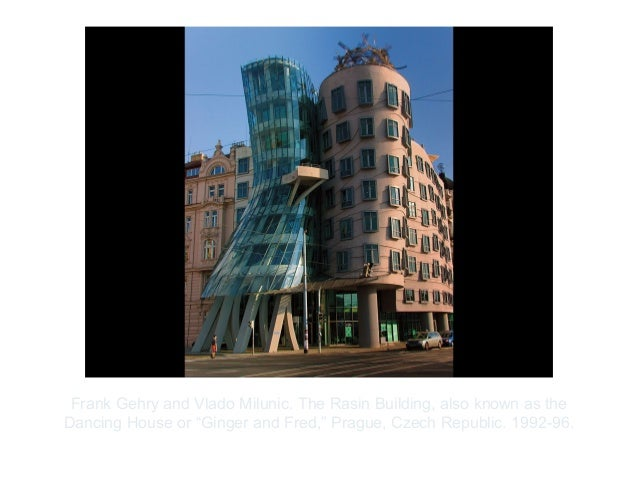 "Copyright ©2012 Pearson Inc.Frank Gehry and Vlado Milunic. The Rasin Building, also known as theDancing House or ""Ginger a..."