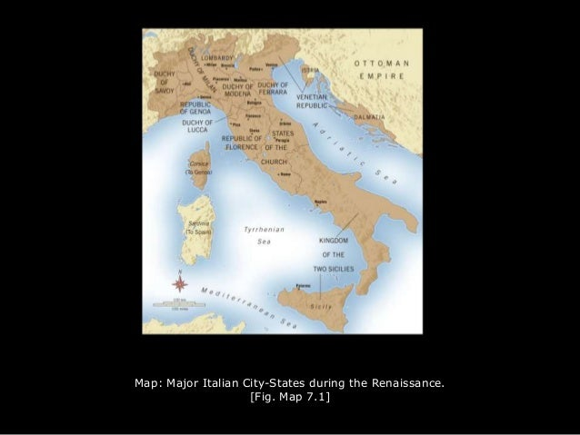 Italian Cities Map Map Major Italian City-states