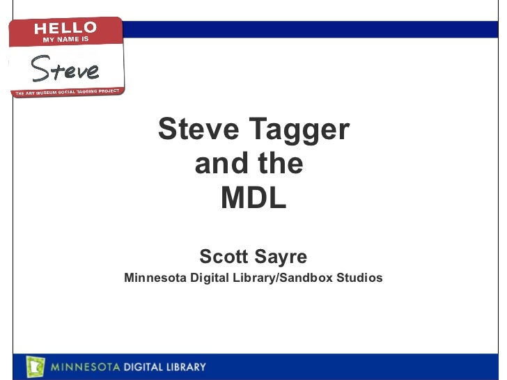 Steve Tagger and the  MDL Scott Sayre Minnesota Digital Library/Sandbox Studios
