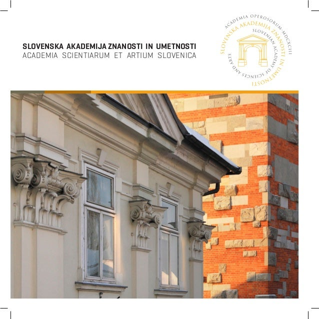 PUBLICATION / SLOVENIAN ACADEMY OF SCIENCE AND ARTS