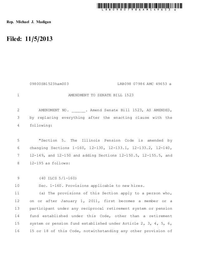 Sb1523   house amendment 3 by speaker michael madigan