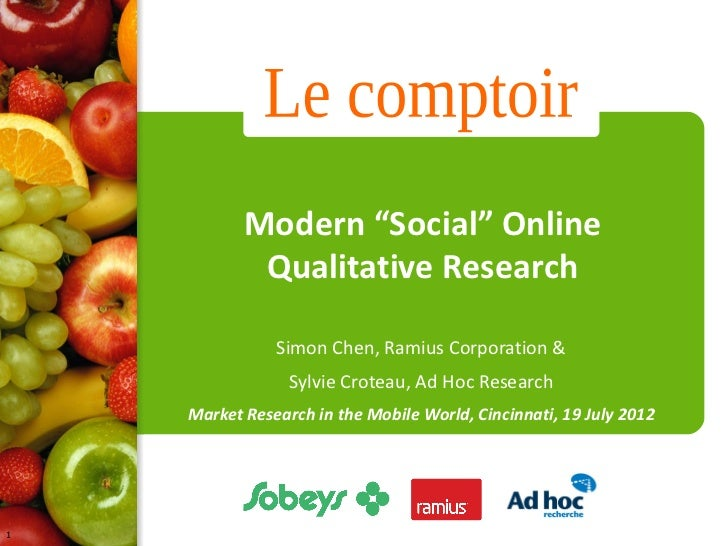 "Modern ""Social"" Online Qualitative Research"