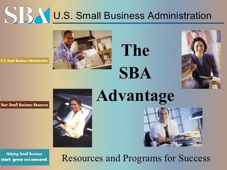 SBA general presentation, Sept 2012