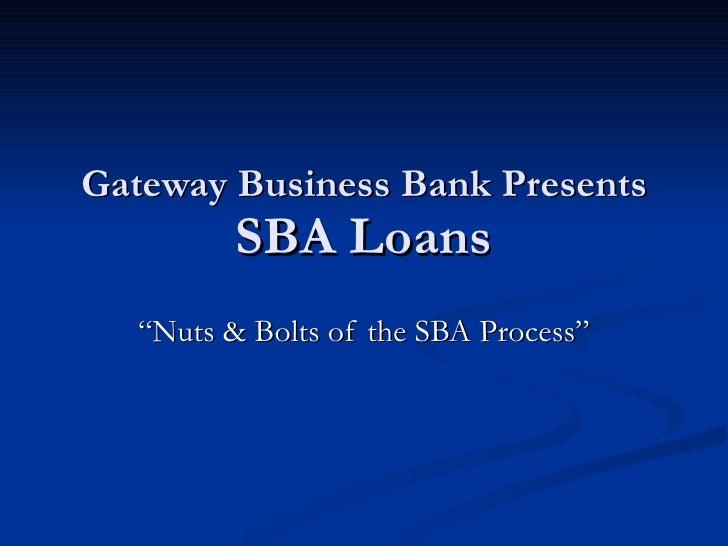 SBA Loans 2009