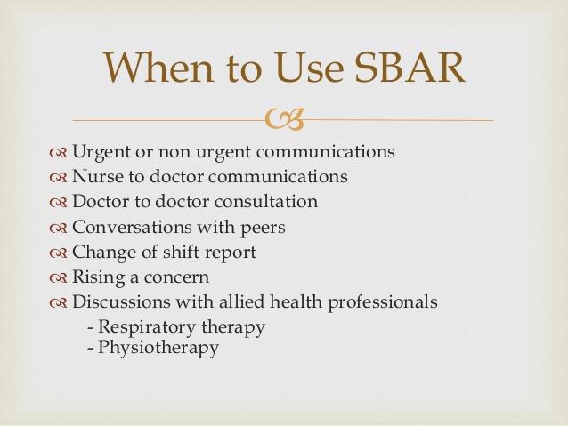 sbar change