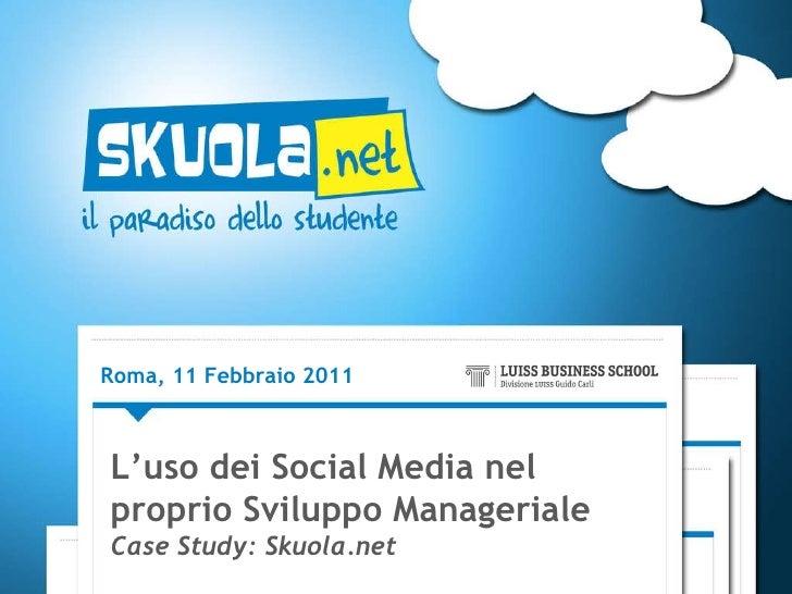 """"""" L'uso dei social media nel proprio sviluppo manageriale"""" di Marco Sbardella"""