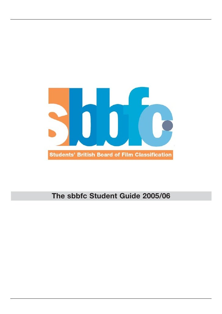 The sbbfc Student Guide 2005/06