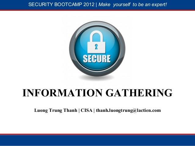 SBC 2012 - Information Gathering (Lương Trung Thành)