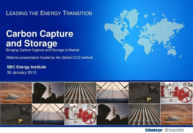 SBC Energy Institute - Factbook: Bringing CCS to Market - webinar 30 Jan