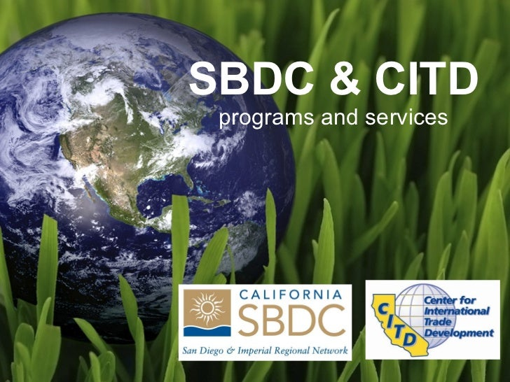 SBDC & CITD programs and services