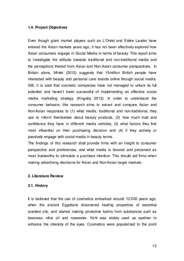 Dissertation promotional mix