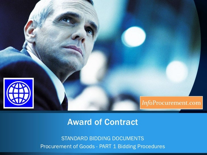 Sbd procurement of goods   6 award of contract