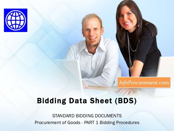 Sbd procurement of goods   section ii bidding data sheets