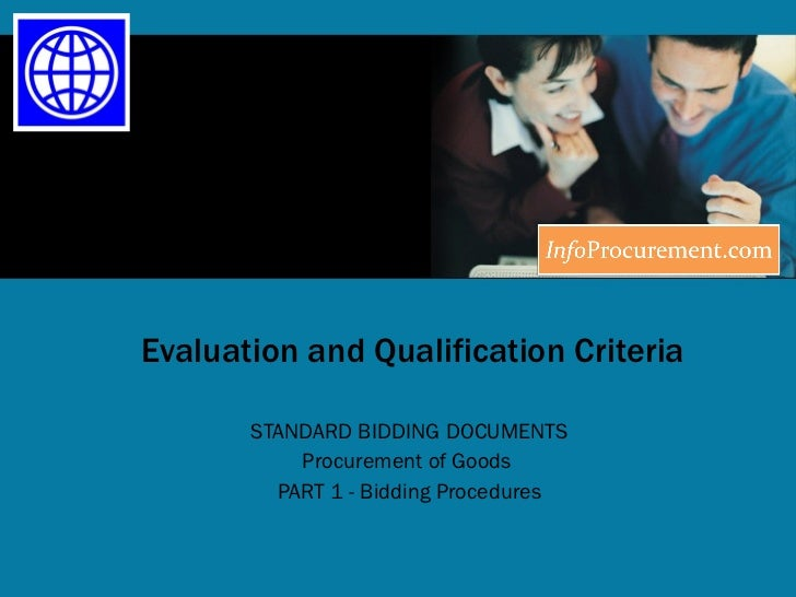 Sbd procurement of goods   section iii evaluation and qualification criteria