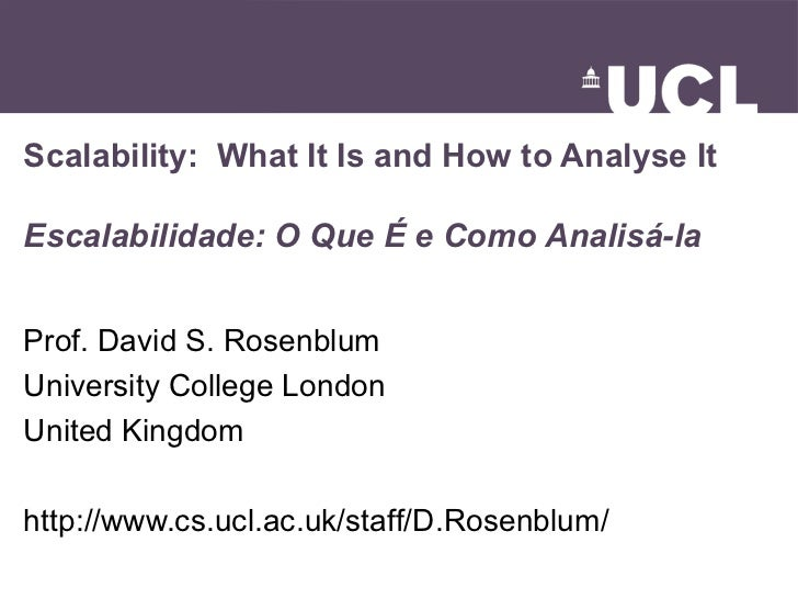 Scalability: What It Is and How to Analyze It (keynote talk at SBES 2007)