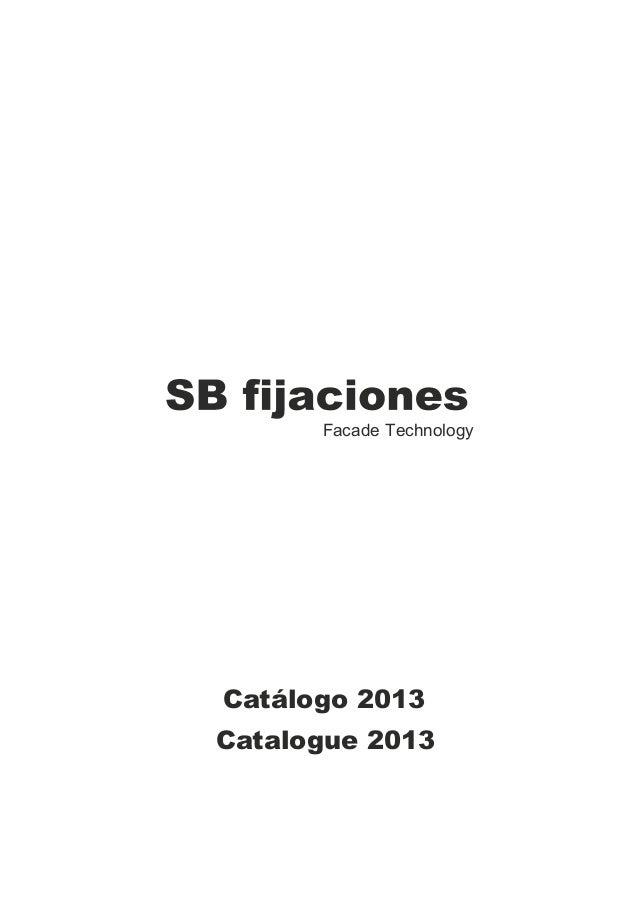 Facade TechnologyCatálogo 2013Catalogue 2013