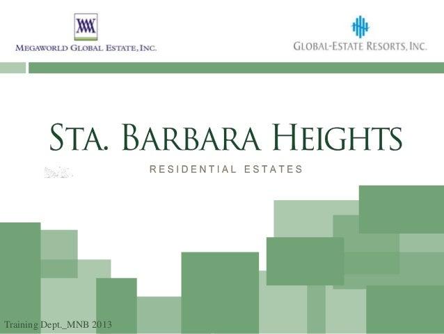 Sta. Barbara Heights