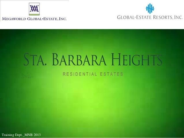 Sta. Barbara Height_Cocktail Presentation
