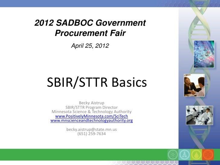 SBIR Basics