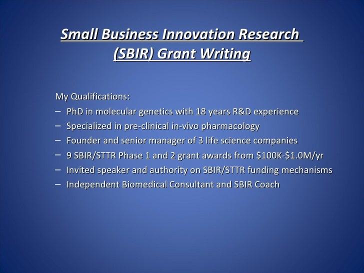 Sbir Presentation July 2012