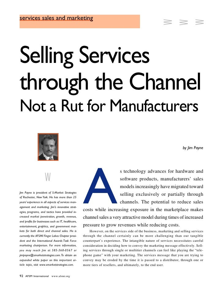Selling Services Through Channels