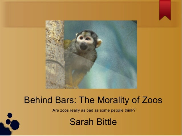 Are zoos really as bad as some people think? Behind Bars: The Morality of Zoos Sarah Bittle