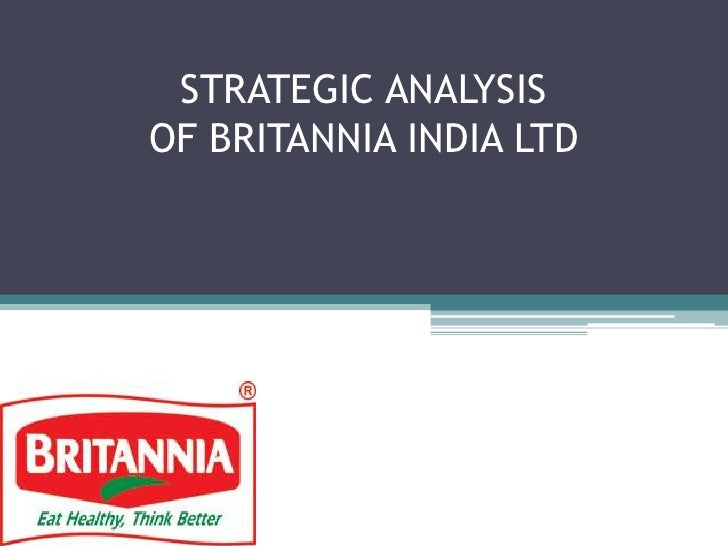 STRATEGIC ANALYSIS OF BRITANNIA INDIA LTD<br />