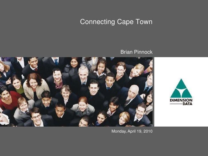 Connecting Cape Town\Bandwidth Connections by Brian Pinnock