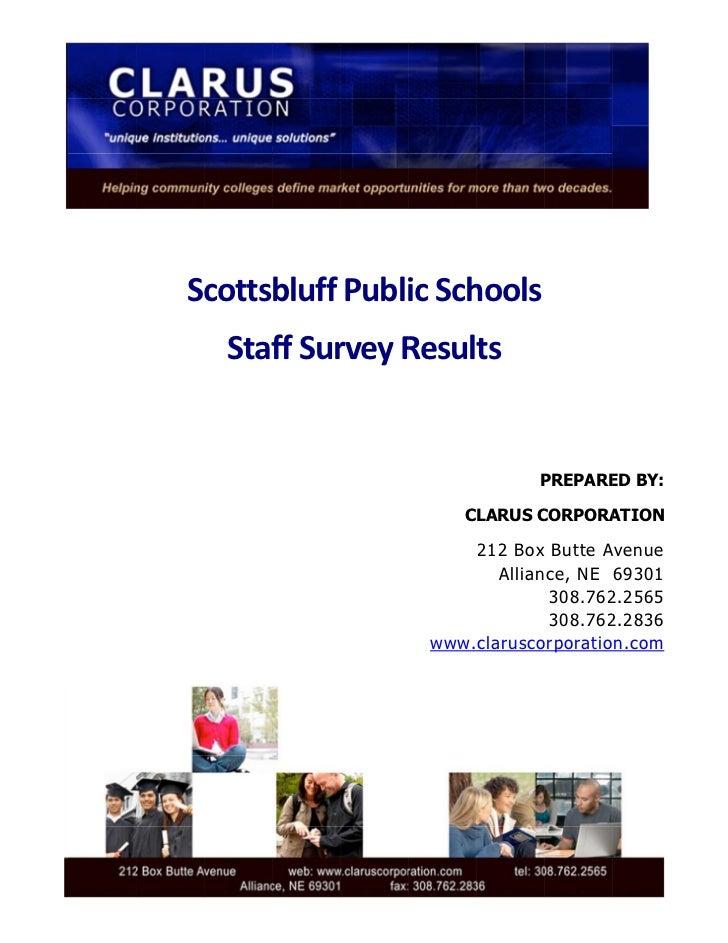 ScottsbluffPubli hools                    icSch      Staf rveyR         ffSur Results          ...