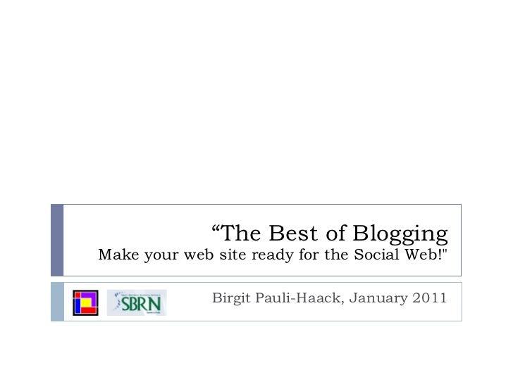 SBRN: Best Of Blogging