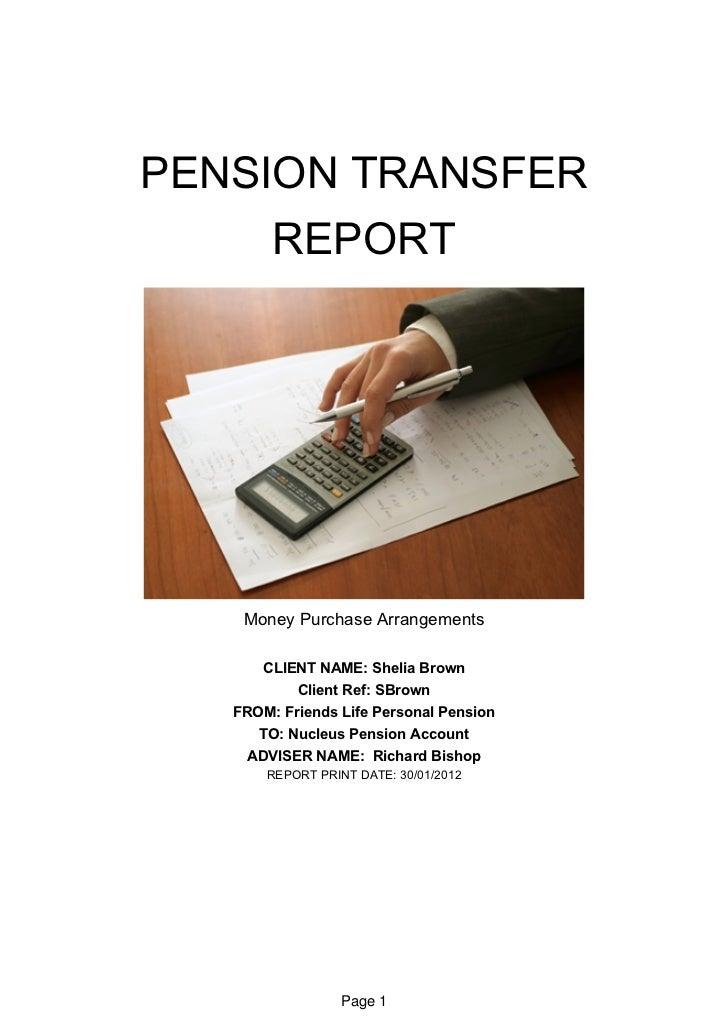 Pension Analysis Report