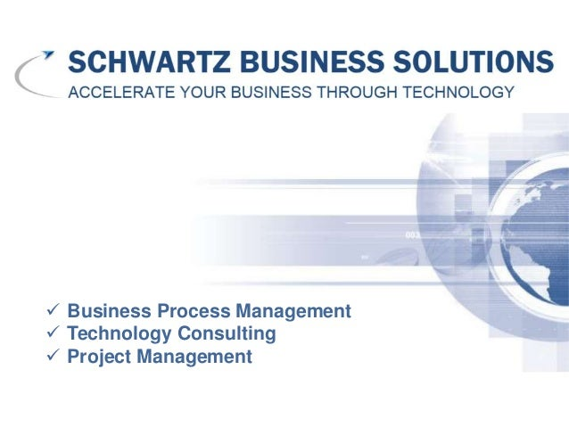  Business Process Management Technology Consulting Project Management