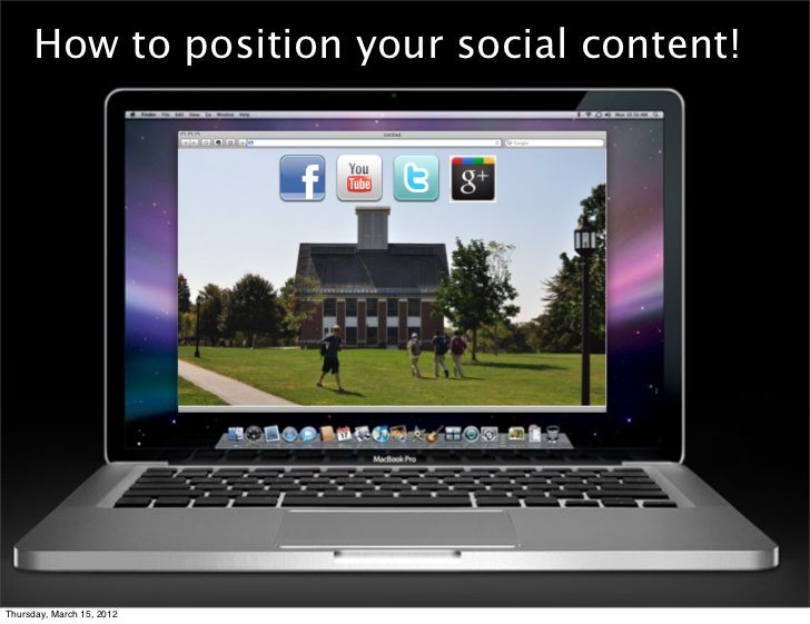 How to position your social content!Thursday, March 15, 2012