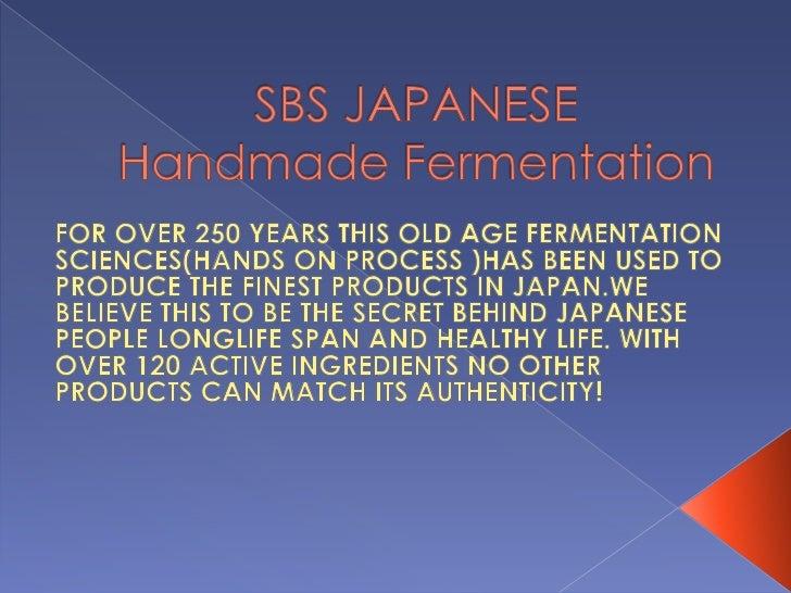 Sbs Fermentation Science