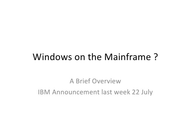 SBTUG News - IBM Mainframe