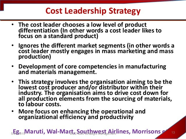 nokia cost leadership strategy Starbucks coffee's generic strategy, based on porter's model, allows the firm to compete based on specialty products starbucks also uses its intensive growth strategies to support expansion, although its focus is on market penetration.