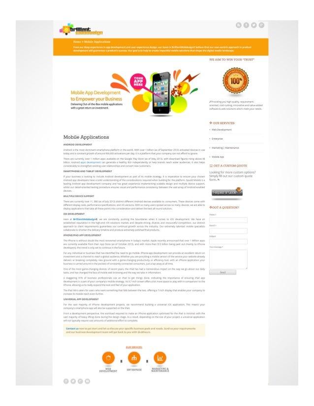 Brilliantwebdesign.net Services Marketing