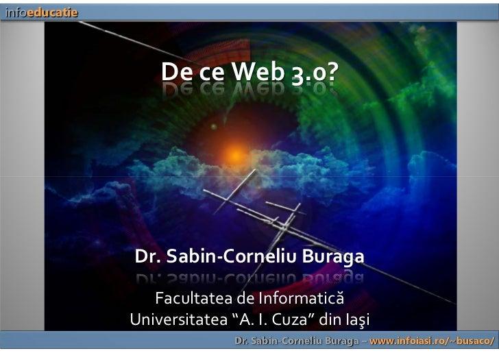 De ce Web 3.0? (Why Web 3.0?)