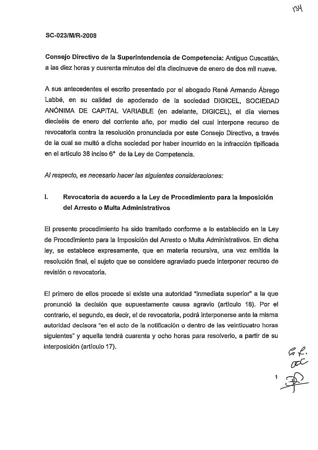 SC-023-O/M/R-2008 Resolución del recurso de revocatoria