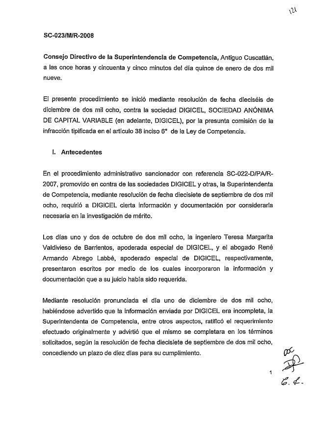 SC-023-O/M/R-2008 Resolución final