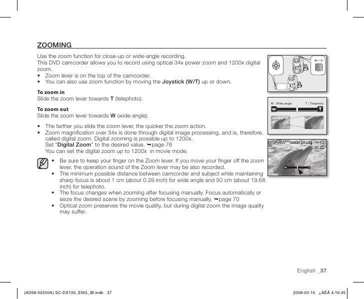 samsung sc dx103 dvd camcorder manual