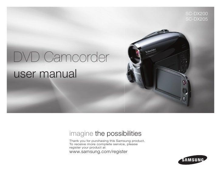 SC-DX200                                                           SC-DX205     DVD Camcorder user manual             imag...