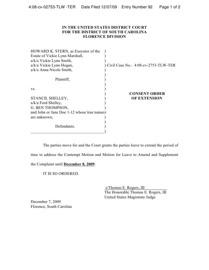 4:08-cv-02753-TLW -TER        Date Filed 12/07/09      Entry Number 92        Page 1 of 2                      IN THE UNIT...