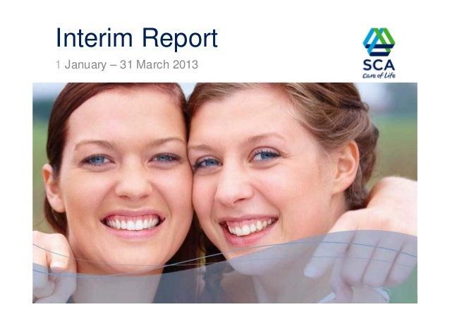 1 January – 31 March 2013Interim Report