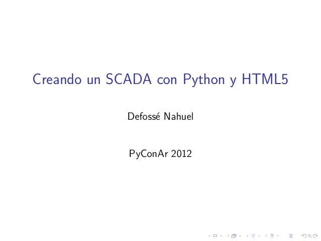 Creando un SCADA con Python y HTML5