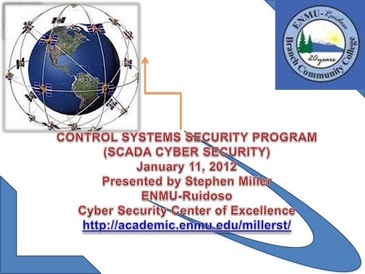Scada security presentation by Stephen Miller