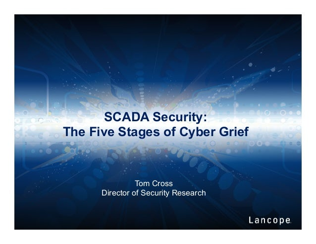 SCADA Security: The Five Stages of Cyber Grief Tom Cross Director of Security Research