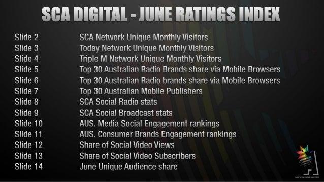 SCA Digital June 2013 Results