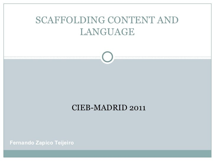 Scaffolding content and language