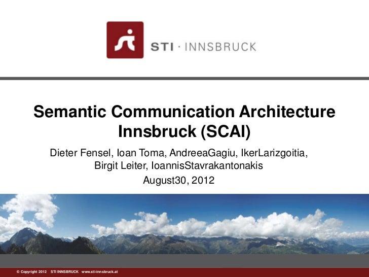 Semantic Communication Architecture                  Innsbruck (SCAI)                Dieter Fensel, Ioan Toma, AndreeaGagi...